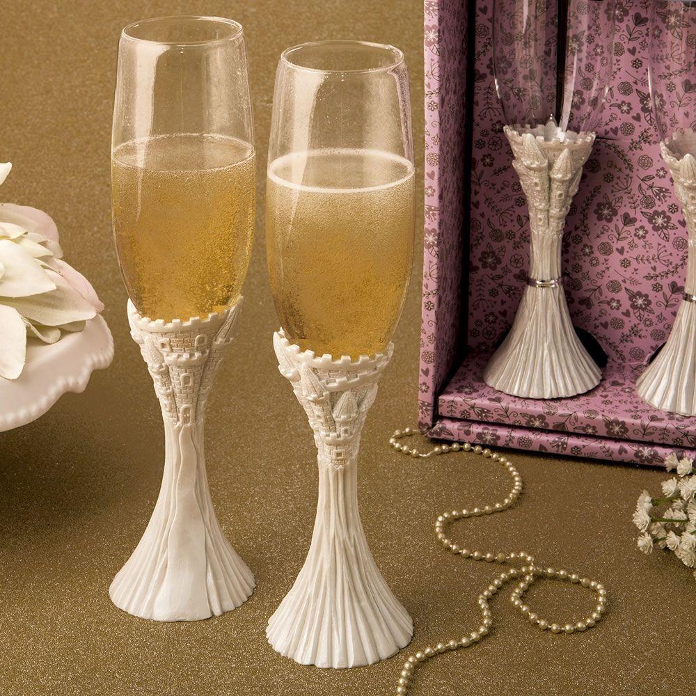 fairytale design flute champagne set fashion craft. Black Bedroom Furniture Sets. Home Design Ideas