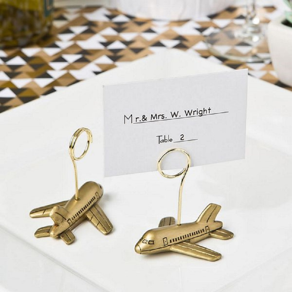 Airplane Design Placecard Holder From Fashioncraft
