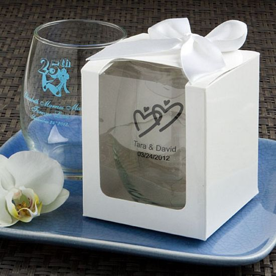 Personalized Stemless Wine Glasses Greek Fashion Craft