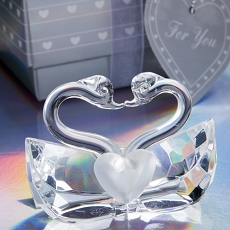Crystal Kissing Swans