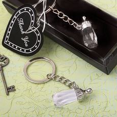 Choice Crystal Baby Bottle Design Key Chain From Fashioncraft