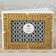 Gold Lattice Botanical Collection Guest Book