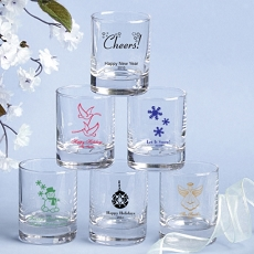 Round Shot Glass/Votive-Holiday