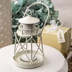 Lighthouse Luminous Metal  Lantern From Fashioncraft