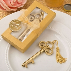 Gold Vintage Skeleton Key Bottle Opener Fashioncraft