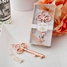 Rose Gold Vintage Skeleton Key Bottle Opener-Fashioncraft