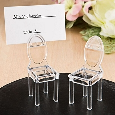 Miniature Clear Acrylic Formal Reception Chairs-Fashioncraft