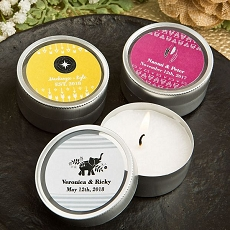 Aztec / Wanderlust Design Scented Round Travel Candles