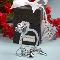 Diamond Ring Key Ring Favors