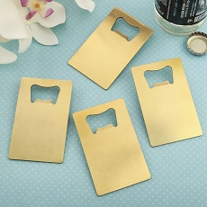 Perfectly Plain Collection - Credit Card Brushed Gold