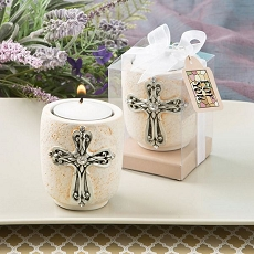 Cross Candle Tea Light Holder From Fashioncraft