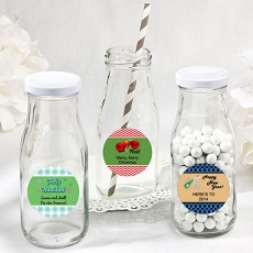 Design Your Own Vintage Style Milk Bottles-Holiday