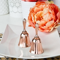 Rose Gold Metal Kissing Bell From Fashioncraft