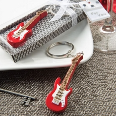 Classic Red Electric Guitar Key Chain Fashioncraft