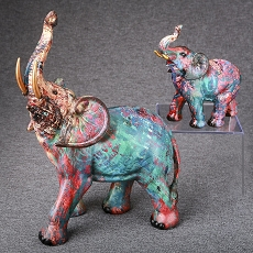 Set of 2 Fun Graffiti Elephants from Gifts by Fashioncraft
