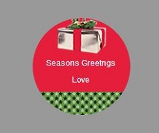 DYO Holiday labels stickers round small