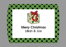 Rectangular labels rounded border-holiday
