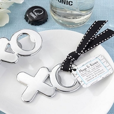 Hugs and Kisses Chrome XO Bottle Opener