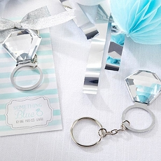 Something Blue Ring Key Ring