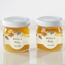 Personalized Clover Honey - Fall Leaves (Set of 12)