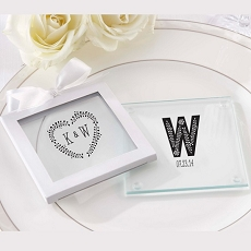 Personalized Glass Coasters-Rustic Collection (12)