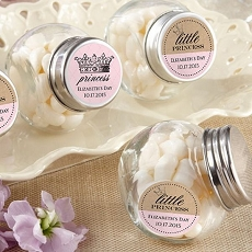 Personalized Mini Glass Favor Jars - Little Princess (12)