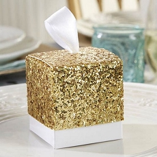 All the Glitters Gold Glitter Favor Box (Set of 24)