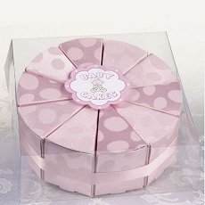 Set/10 Baby Cakes Favors-Pink