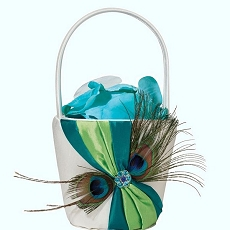 Peacock Flower Basket
