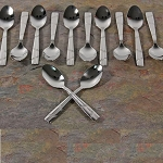 Set of 12 Espresso Spoons - Stainless Steel