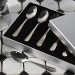 Espresso Spoons set of 6 Satin and Gold finish