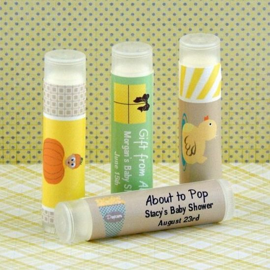 personalized baby shower lip balm favors set of 15 partyfavors