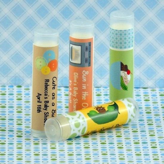 personalized boy baby shower lip balm favors set of 15 partyfavors