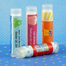 Personalized Birthday Lip Balm Favors (set of 15)