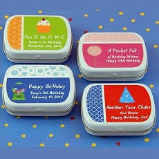 Personalized Birthday Mint Tins (set of 15)