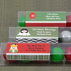 Personalized Christmas Candy Tubes (Set of 15)