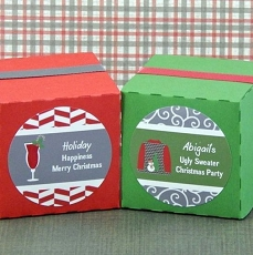 Personalized Christmas Round Favor Labels (Set of 20)