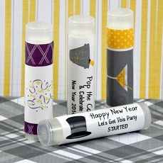Personalized New Year's Lip Balm Favors (set of 15)