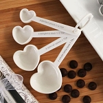 Recipe For Love Heart Measuring Spoon Set