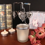 "The Heart Goes ""Round"" Spinning Heart Candle"