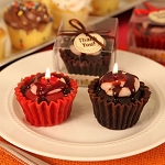 Fresh Out the Oven Cupcake-shaped Candles (2 Assorted Styles)