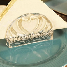 Kissing Swans Crystal Napkin Holder