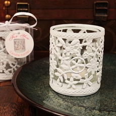 Glowing Garden Steel Candle Holder W/Tea Light(White)