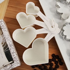 Recipe For Love Heart Measuring Cup Set