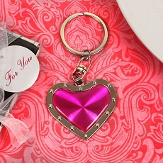 Joyful Heart Pink Heart Key Chain