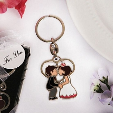 Kiss The Bride Bride & Groom Key Chain