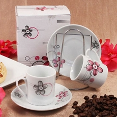 One Cup, Two Cup Espresso Set With Rack