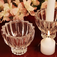 Traditional Crystal Votive Candle Holder