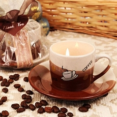 Coffee Scented Candle in Mug Shaped Holder