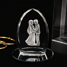 Crystal Couple Crystal Figurine